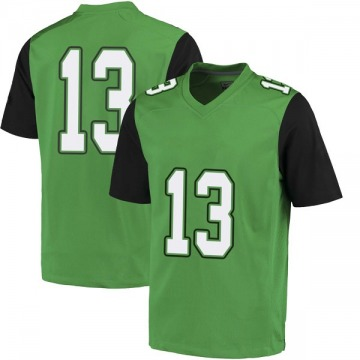 Men's Jackson White Marshall Thundering Herd Nike Game White Green Football College Jersey