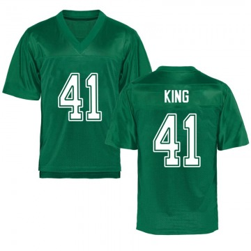 Men's Kenard King Marshall Thundering Herd Game Green Kelly Football College Jersey