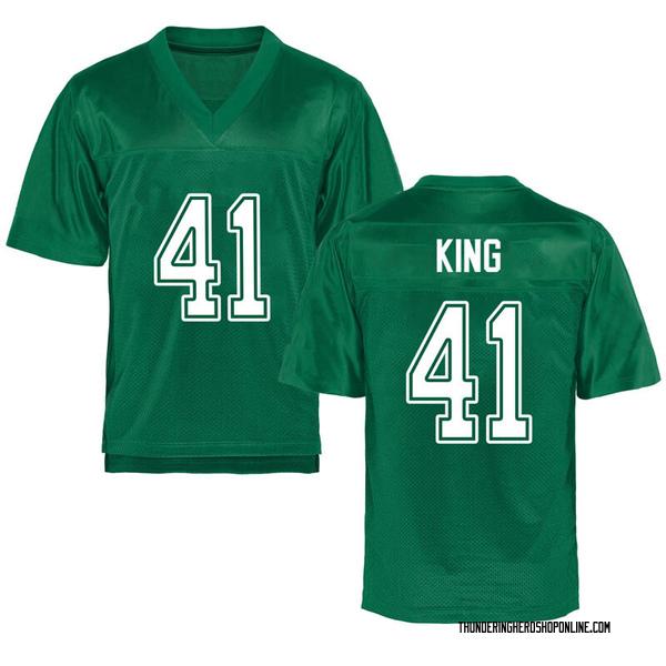 Men's Kenard King Marshall Thundering Herd Game Green Kelly Football College Jersey