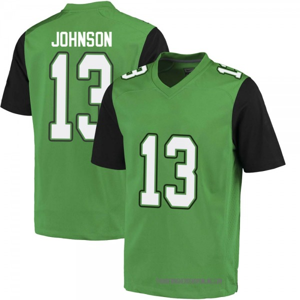 Men's Nazeeh Johnson Marshall Thundering Herd Nike Game Green Football College Jersey