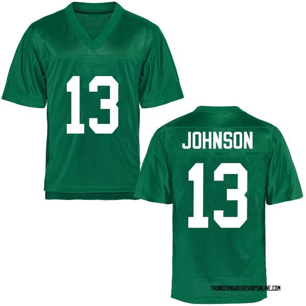 Men's Nazeeh Johnson Marshall Thundering Herd Replica Green Football College Jersey