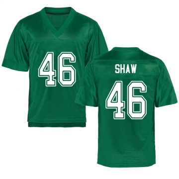 Men's Tyler Shaw Marshall Thundering Herd Game Green Kelly Football College Jersey