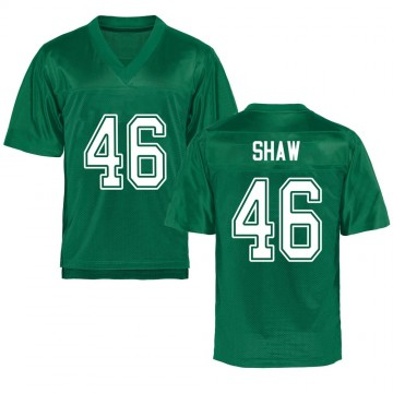 Men's Tyler Shaw Marshall Thundering Herd Replica Green Kelly Football College Jersey
