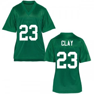 Women's Chad Clay Marshall Thundering Herd Game Green Football College Jersey