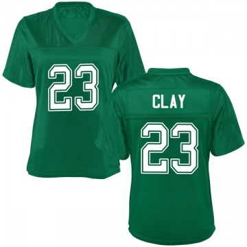 Women's Chad Clay Marshall Thundering Herd Game Green Kelly Football College Jersey