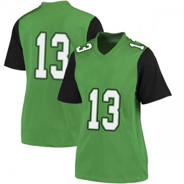 Women's Jackson White Marshall Thundering Herd Nike Game White Green Football College Jersey