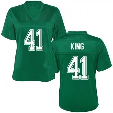 Women's Kenard King Marshall Thundering Herd Game Green Kelly Football College Jersey