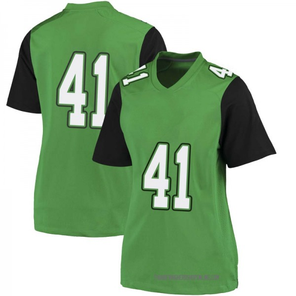 Women's Kenard King Marshall Thundering Herd Nike Game Green Football College Jersey