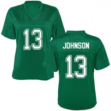 Women's Nazeeh Johnson Marshall Thundering Herd Game Green Kelly Football College Jersey