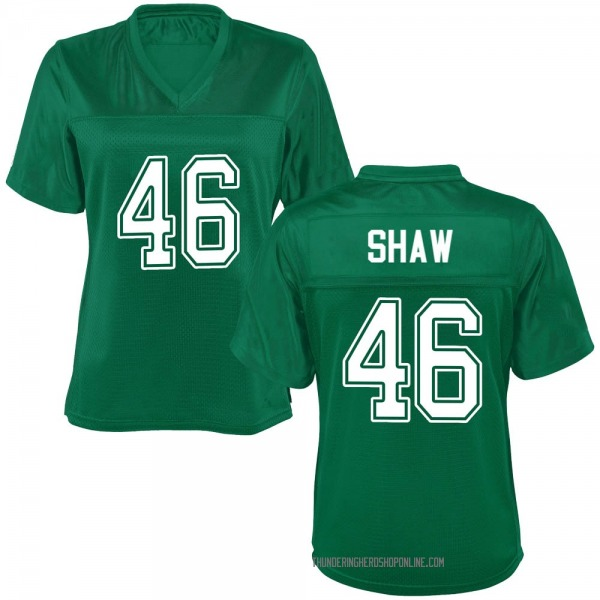 Women's Tyler Shaw Marshall Thundering Herd Game Green Kelly Football College Jersey