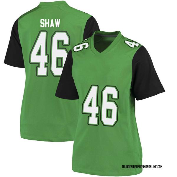 Women's Tyler Shaw Marshall Thundering Herd Nike Game Green Football College Jersey