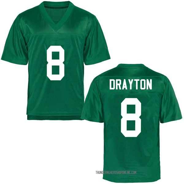 Youth Brandon Drayton Marshall Thundering Herd Replica Green Football College Jersey