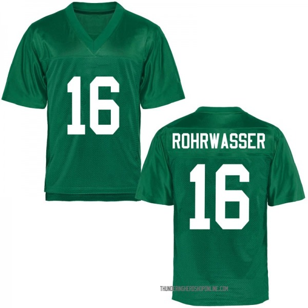 Youth Justin Rohrwasser Marshall Thundering Herd Game Green Football College Jersey