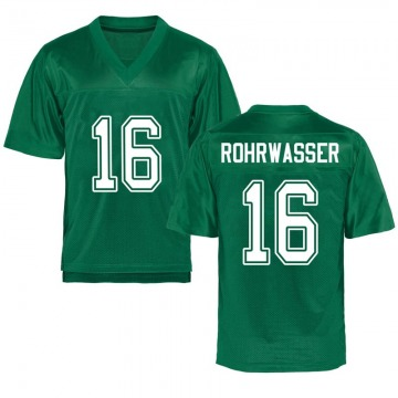 Youth Justin Rohrwasser Marshall Thundering Herd Game Green Kelly Football College Jersey
