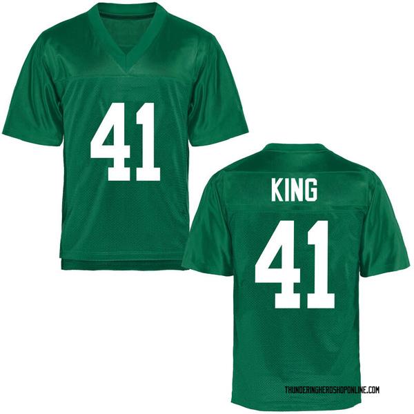 Youth Kenard King Marshall Thundering Herd Game Green Football College Jersey