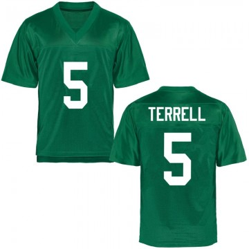 Youth Ty Terrell Marshall Thundering Herd Game Green Football College Jersey