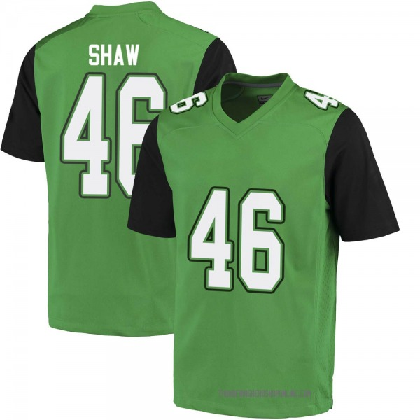 Youth Tyler Shaw Marshall Thundering Herd Nike Game Green Football College Jersey